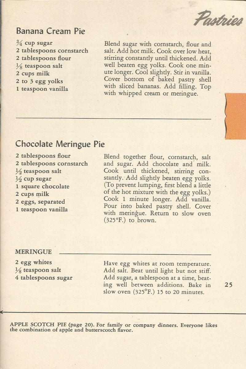 Vintage Recipes: 1945 Crisco Cookbook - Pastries
