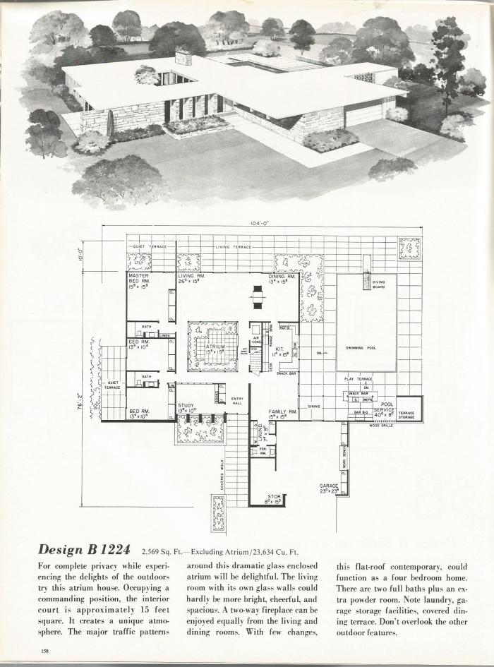Vintage house plans new and refreshing mid century for Mid century home plans