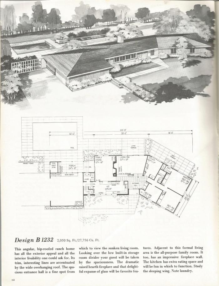 Vintage house plans distinctive mid century contemporary for Vintage floor plans