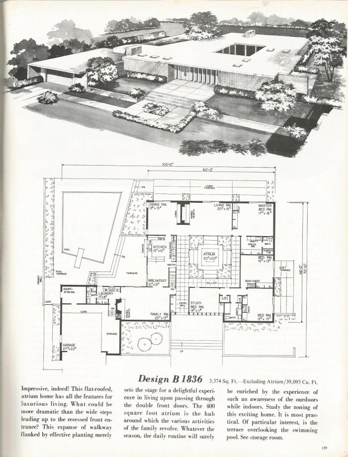Vintage House Plans New And Refreshing Mid Century