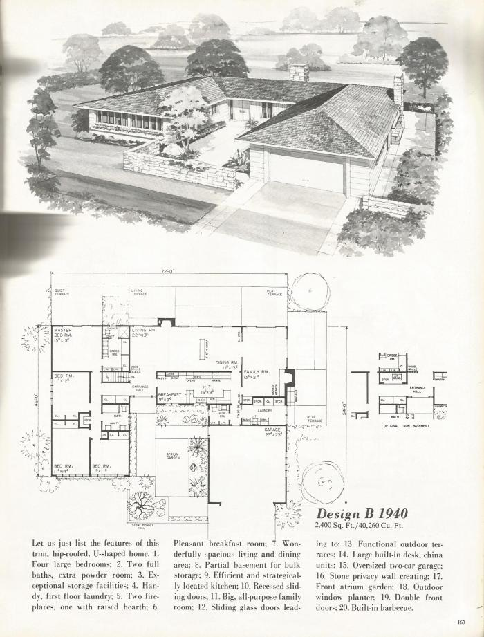 vintage house plans distinctive mid century contemporary