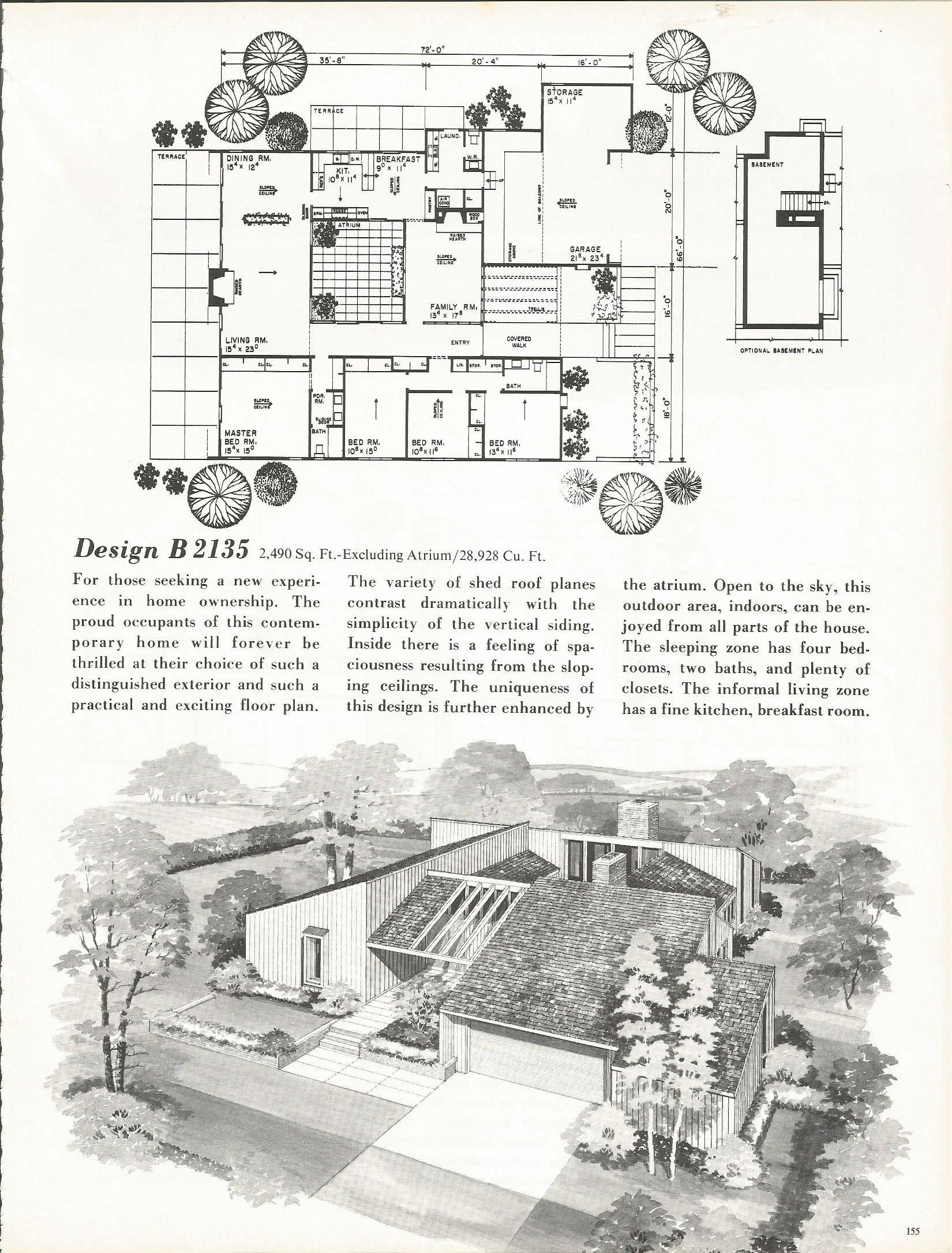 Vintage house plans 2135 antique alter ego for New house plans 2014