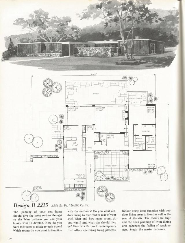 Vintage House Plans Dramatic Mid Century Contemporary