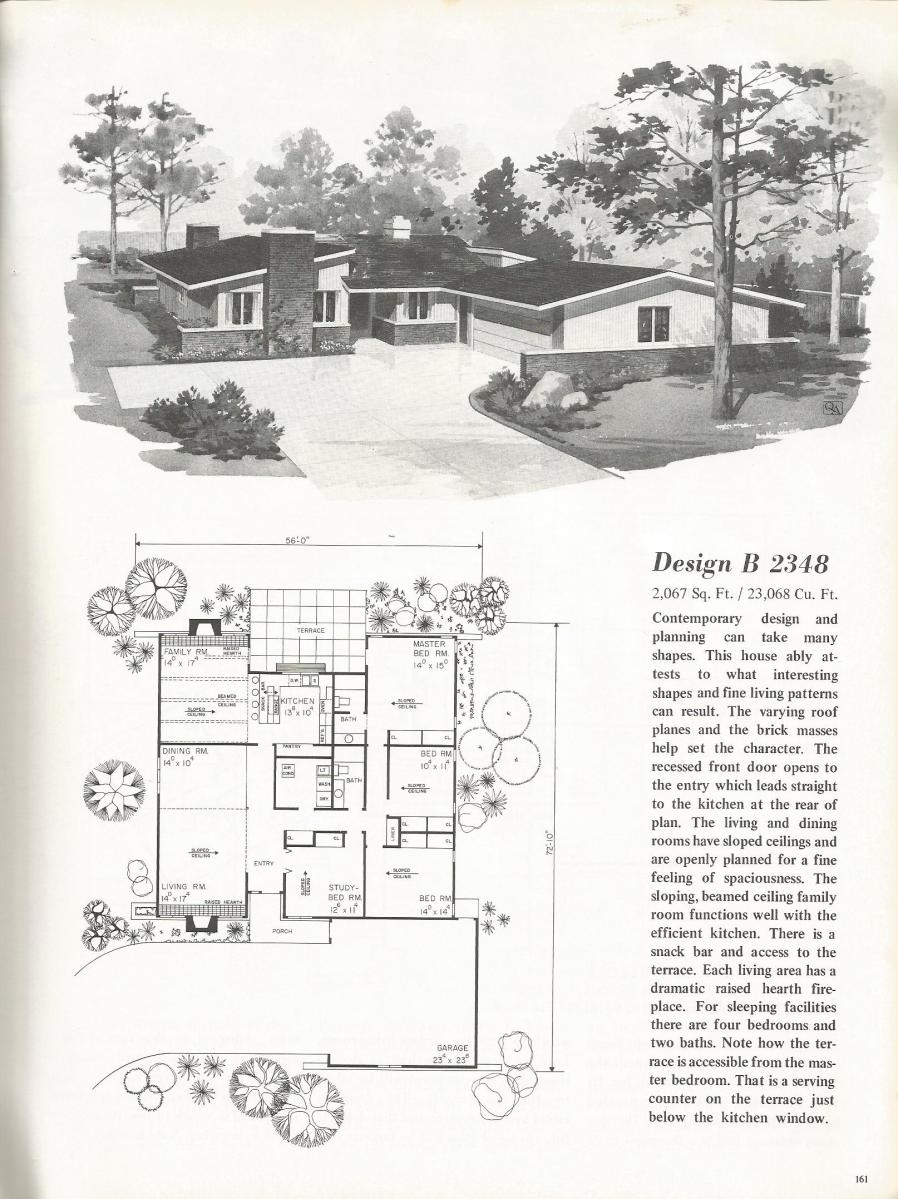 Vintage house plans 2348 antique alter ego for Retro modern house plans