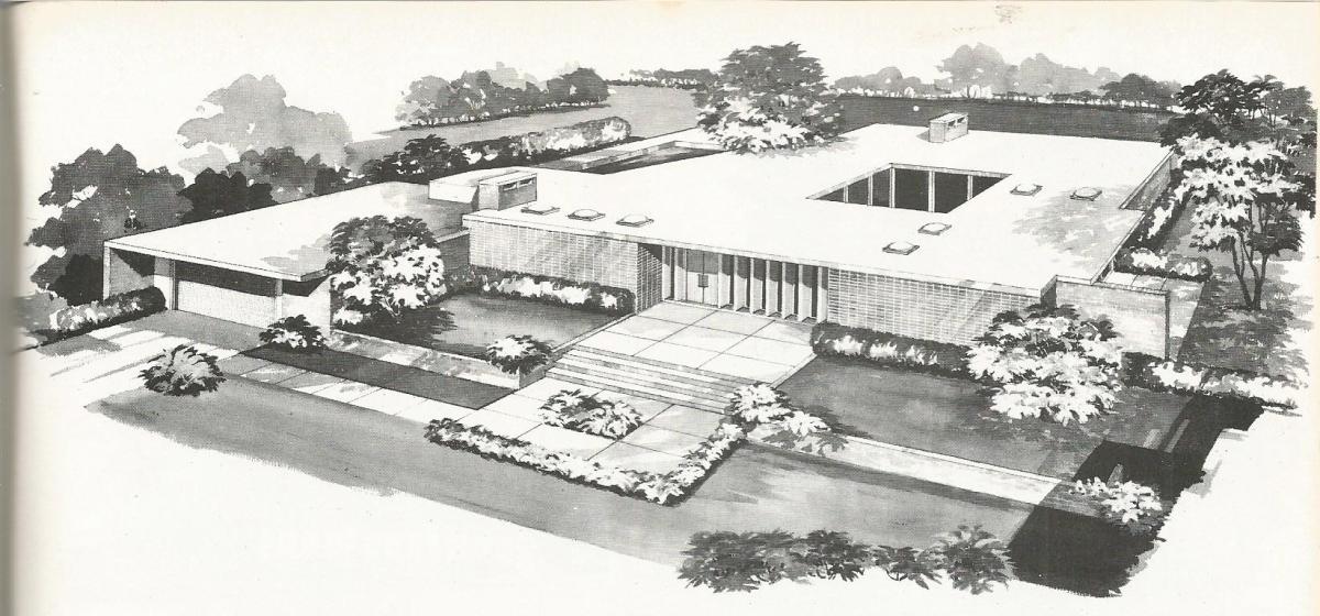 vintage house plans: distinctive mid century contemporary | antique