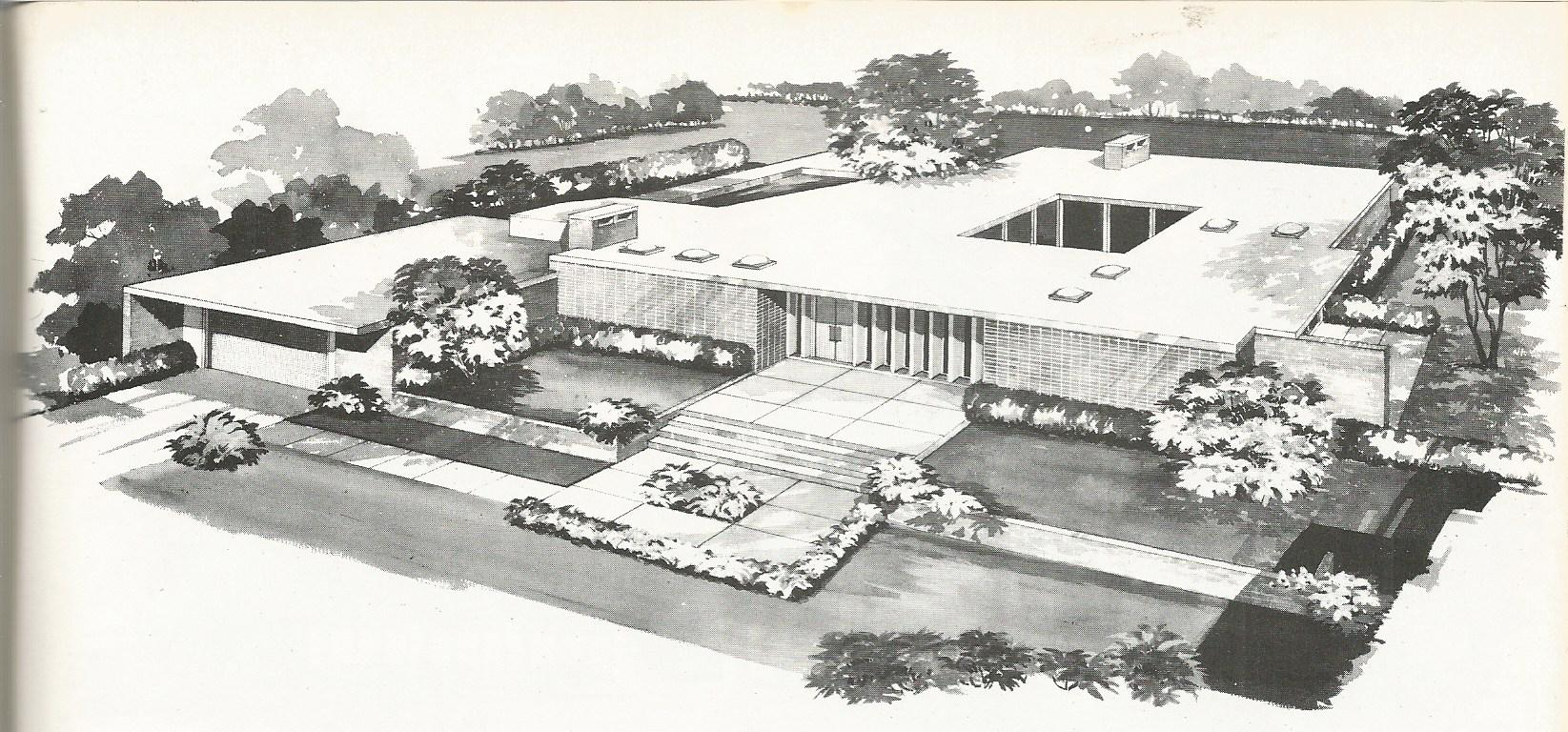 Vintage House Plans: New And Refreshing Mid Century Contemporary