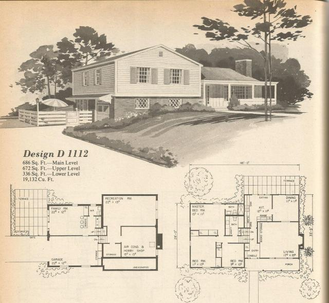 Vintage House Plans Multi Level Homes Part 2 Antique