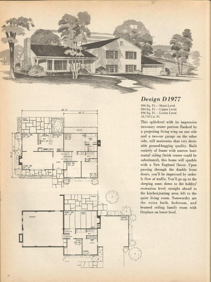 Vintage House Plans Multi Level Homes Part 3 Antique