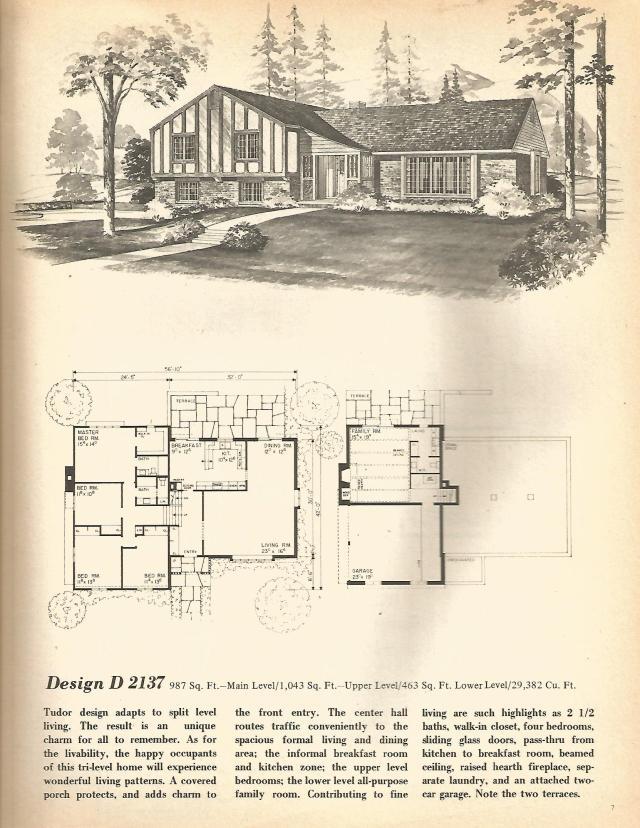 Vintage House Plans Multi Level Homes Part 1 Antique