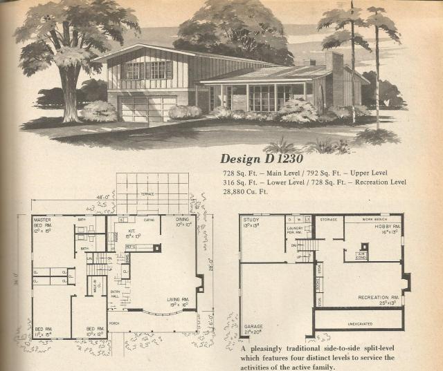 vintage house plans multi level homes part 4 antique multi level homes