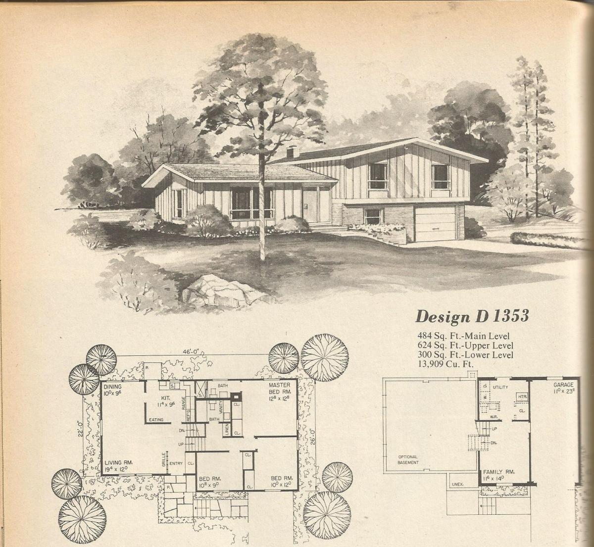 Vintage House Plans: Multi Level Homes Part 3