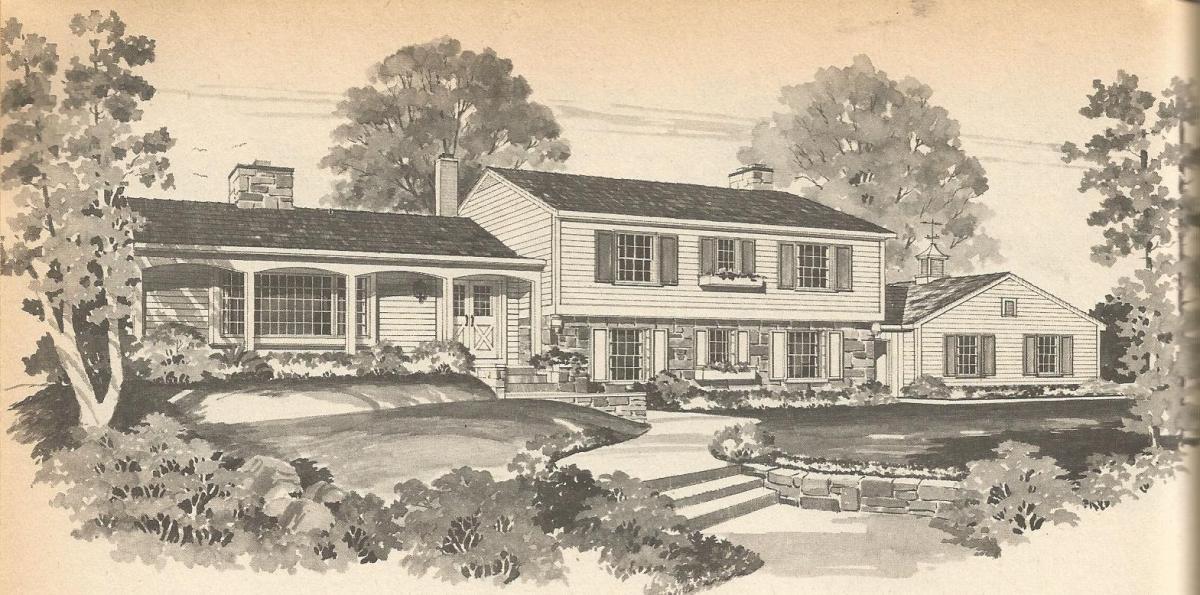 Vintage house plans multi level homes part 4 antique for Vintage home plans