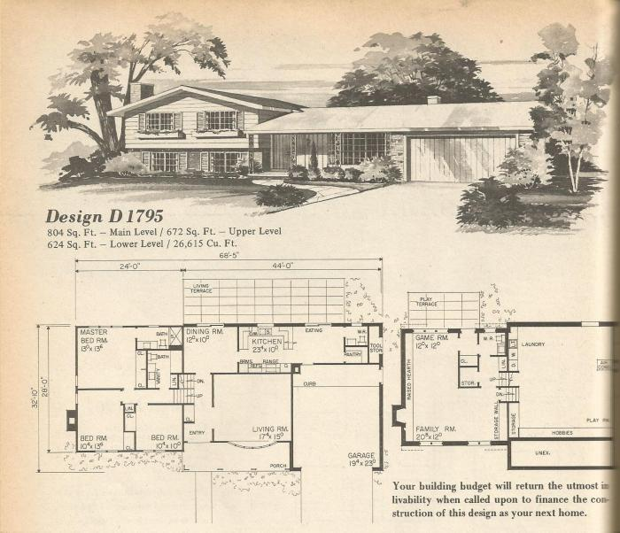 vintage house plans multi level homes part 4 antique 4 plex house plans multiplexes quadplex plans