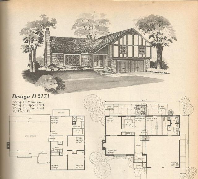 Vintage house plans multi level homes part 4 antique for Multi level home plans