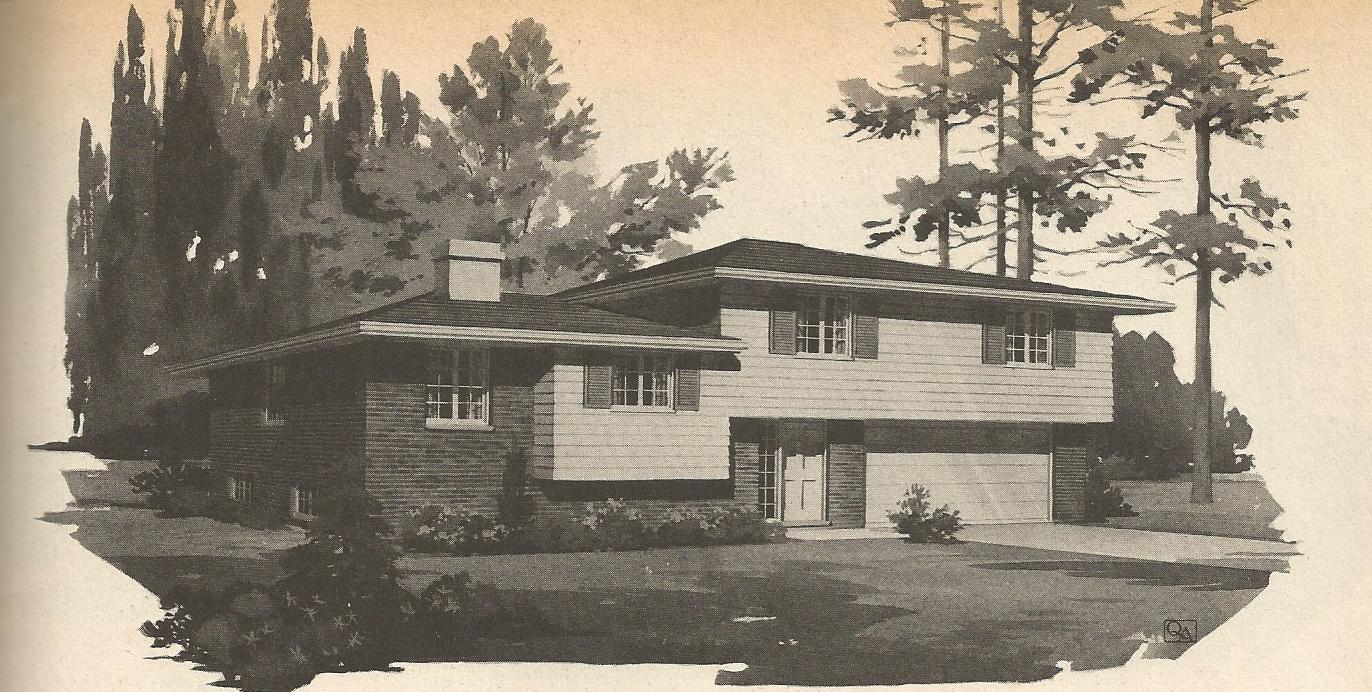 Vintage house plans multi level homes part 5 antique for Multi level home designs
