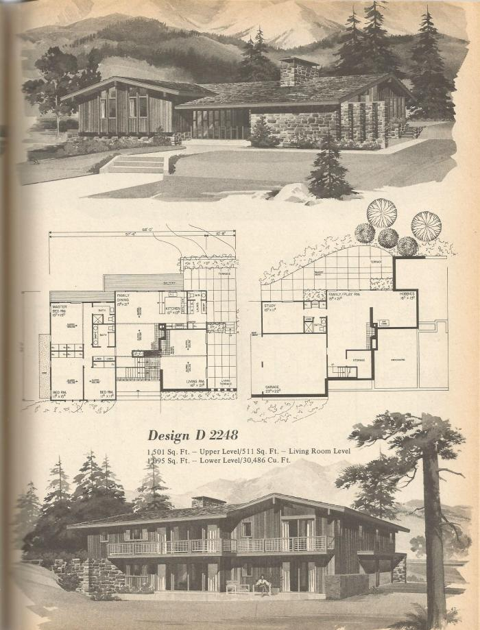 Vintage House Plans, Mid Century House Plans, Vintage Homes