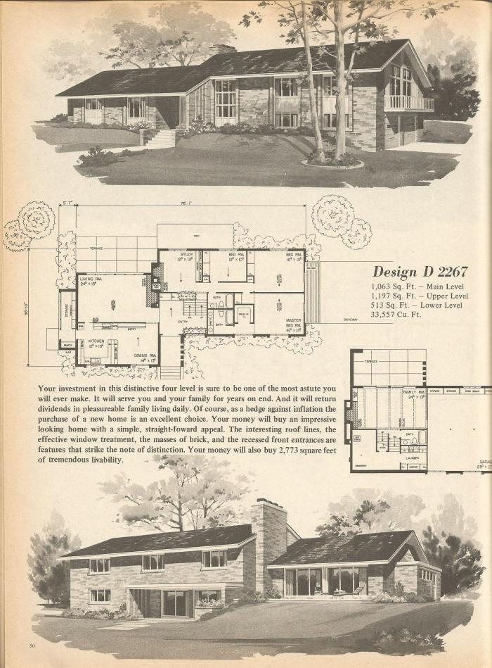 Vintage House Plans, Mid Century Homes, Vintage Home Plans