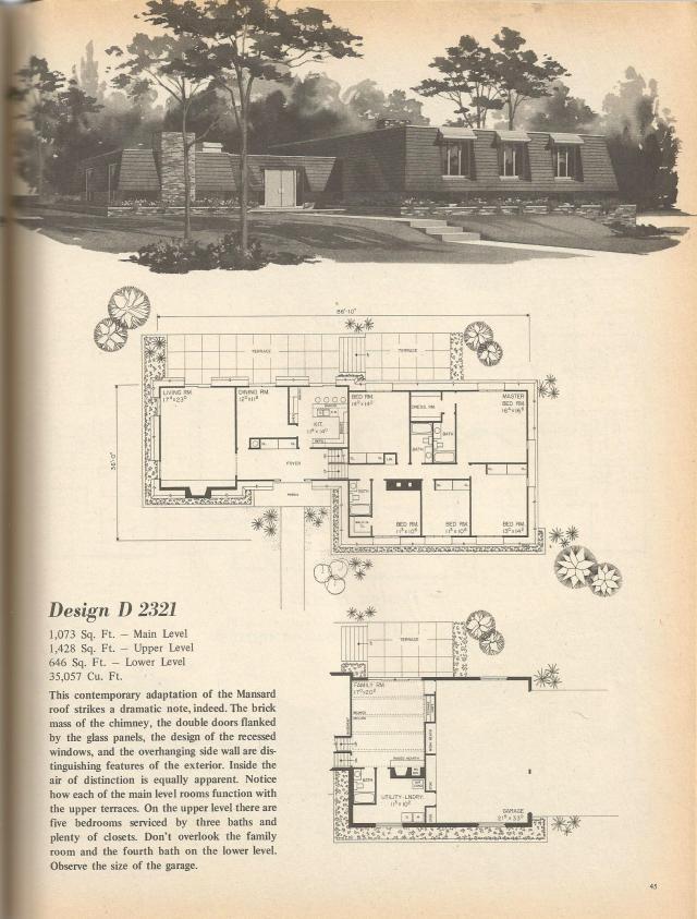 Vintage House Plans Multi Level Homes Part 6 Antique