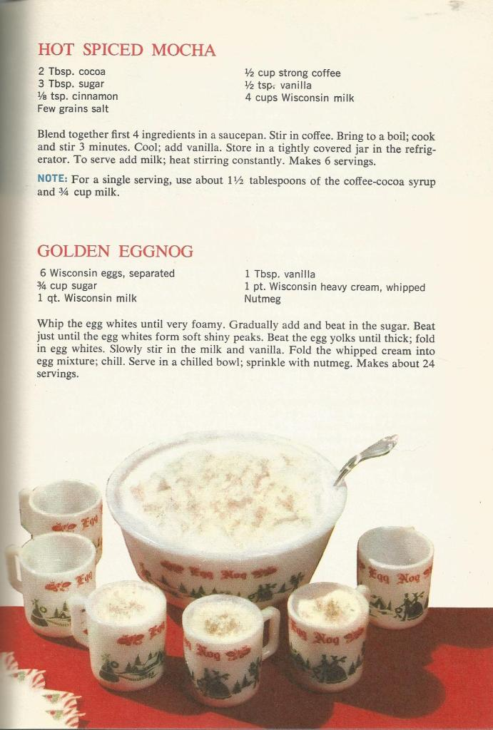 Vintage Recipes  1964 Beverages