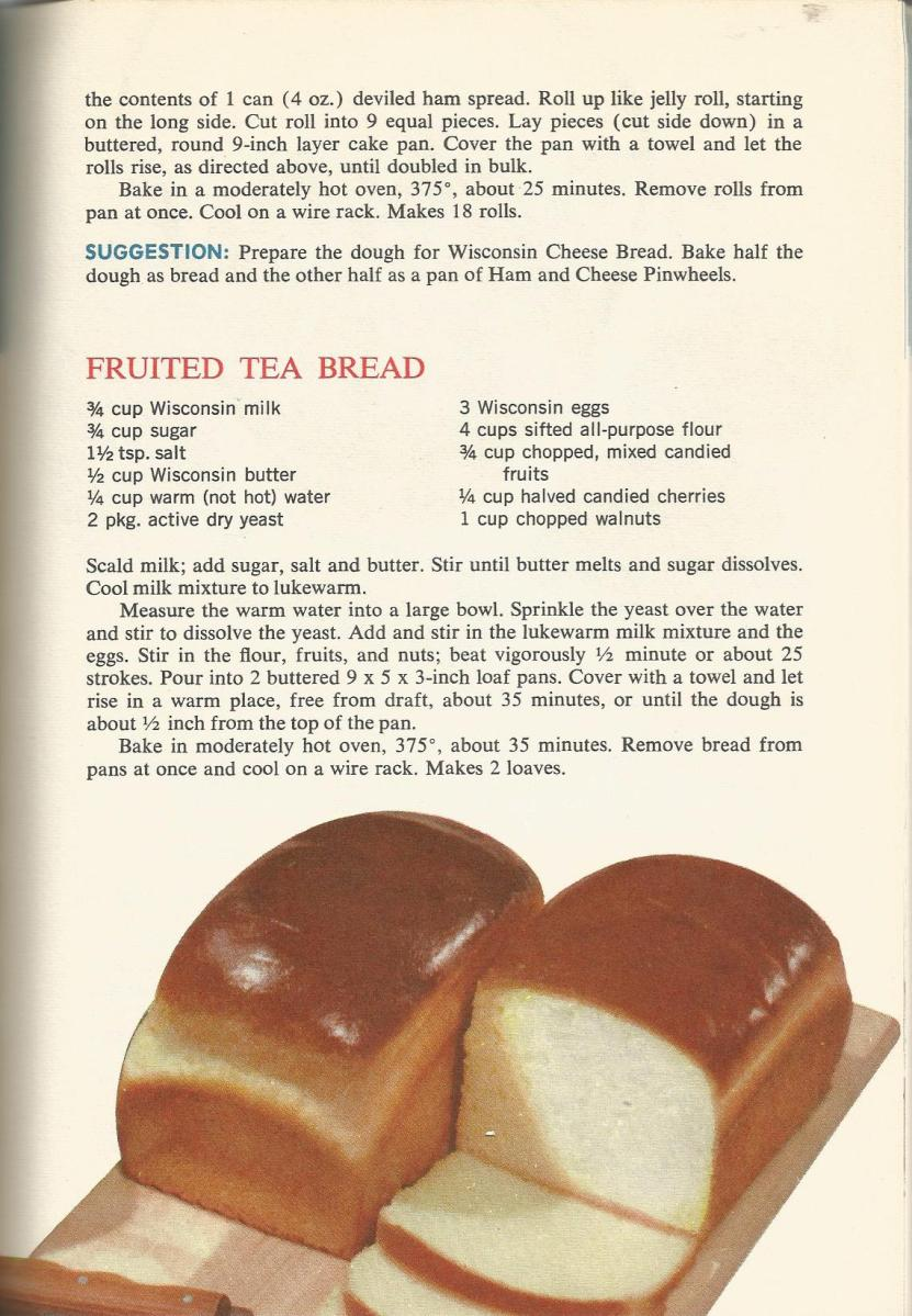 Vintage Recipes 1964 Breads, Doughnuts and Griddlecakes