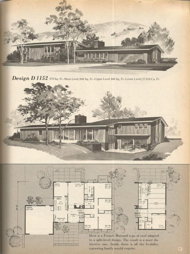 antique spacious mooramie house design   Vintage House Plans: Multi-Level Homes Part 10   Antique ...