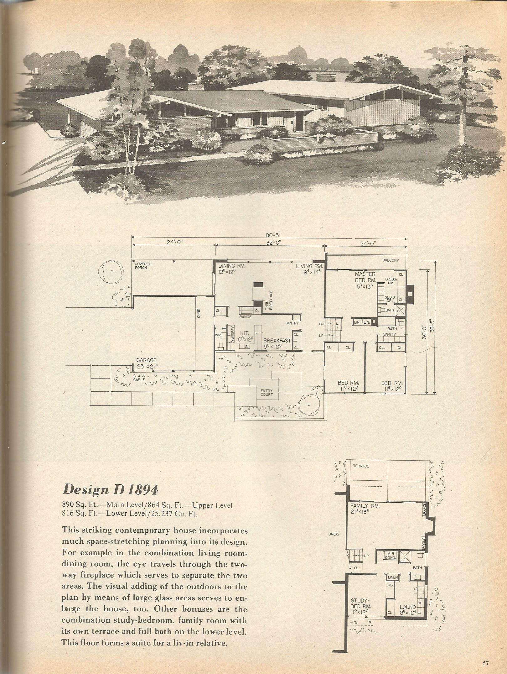 Vintage house plans 1894 antique alter ego for Vintage home floor plans
