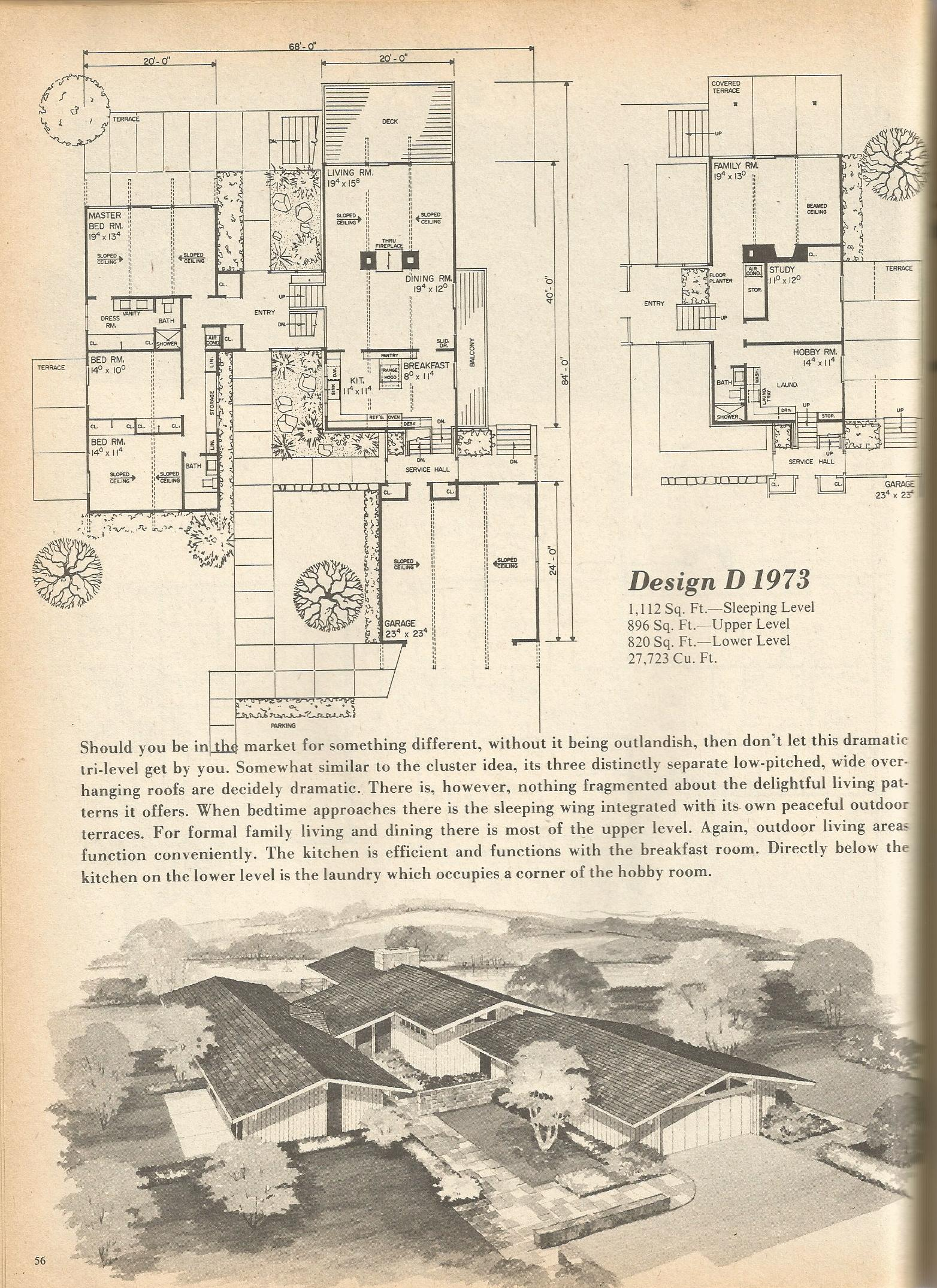 Vintage House Plans 1973 Antique Alter Ego