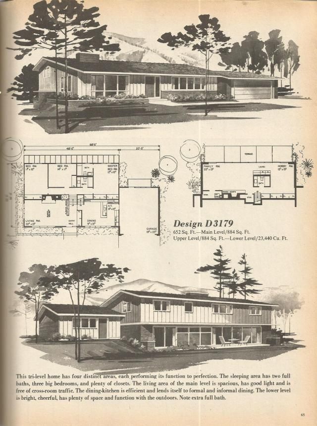 Vintage House Plans Multi Level Homes Part 10 Antique
