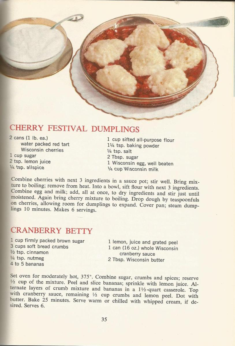 Vintage Recipes 1964 Desserts and Sauces