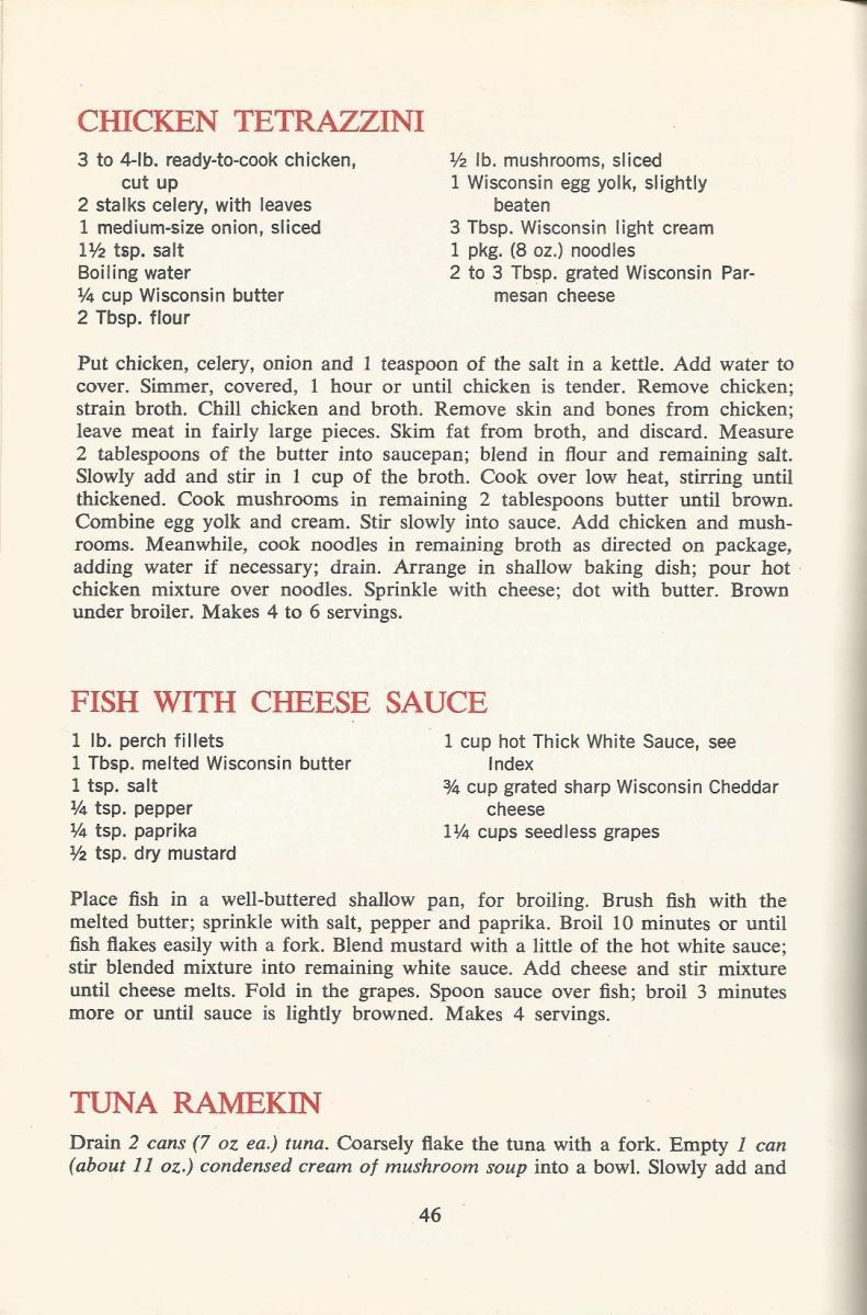 Vintage Recipes: 1964 Meats, Poultry, Fish
