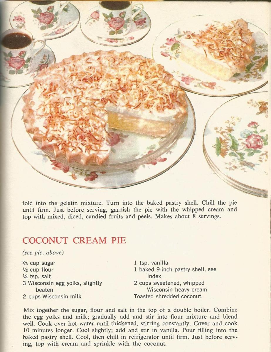 Vintage Recipes 1964 Pies and Pastries