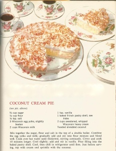 Vintage Recipes:  1964  Pies and Pastries