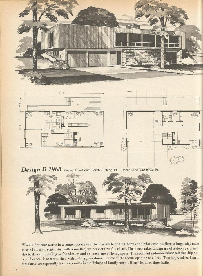 Vintage house plans multi level homes part 18 antique for Multi level house plans
