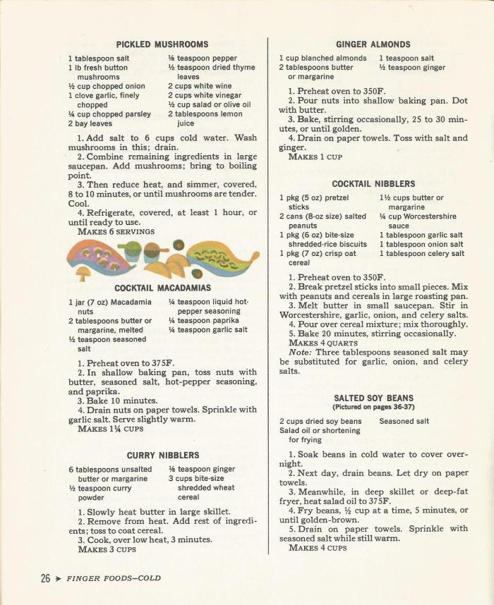Cocktail Time, Finger Foods, Vintage Recipes