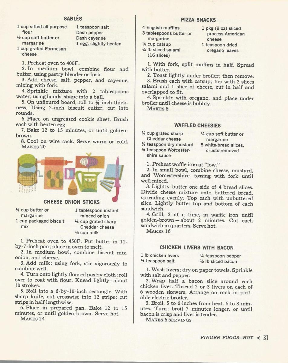 Cocktail Time 1965 Finger Foods Hot