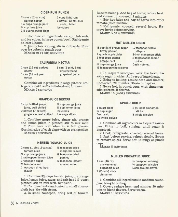 Cocktail Time 1965  Beverages