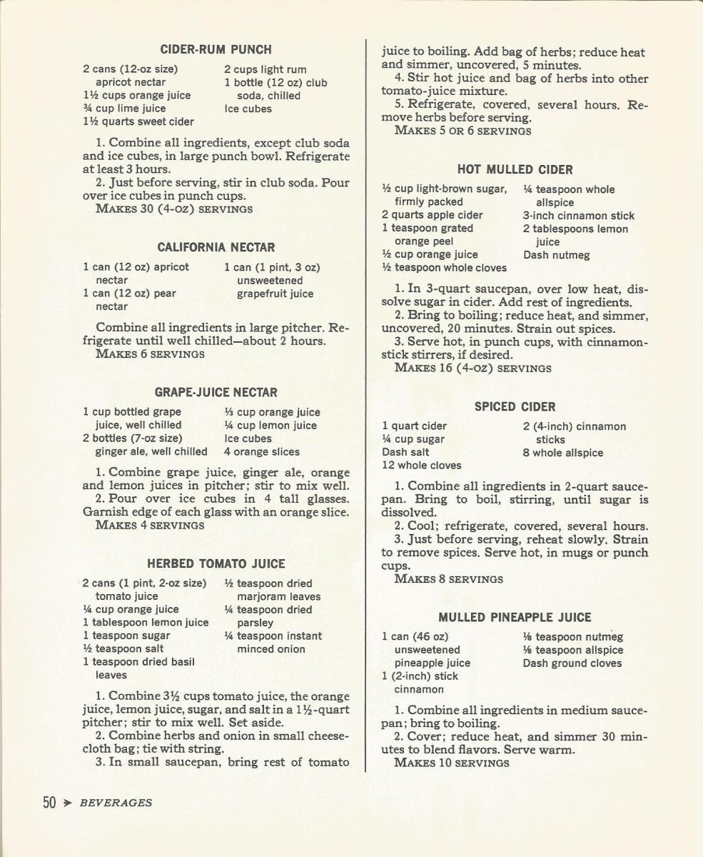 Cocktail Time 1965 Beverages