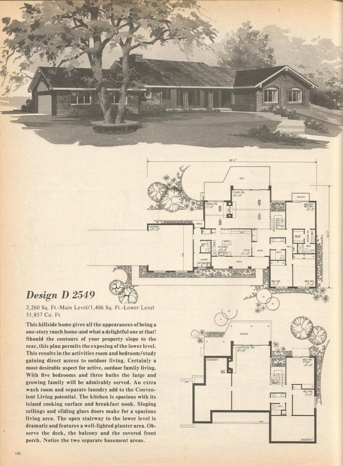 Vintage House Plans, Mid Century Homes