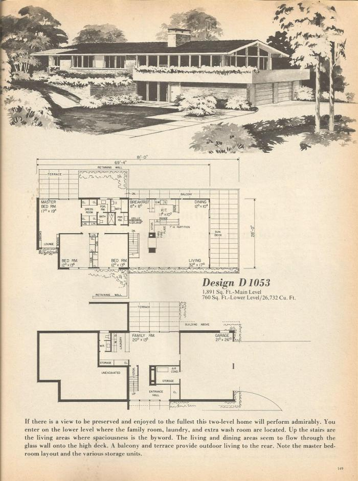 Vintage house plans multi level homes part 26 antique for Vintage home plans