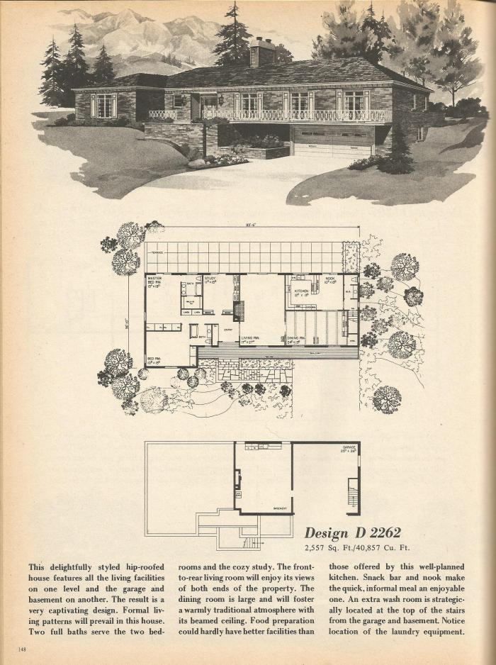 Vintage house plans multi level homes part 26 antique for Multi level house plans