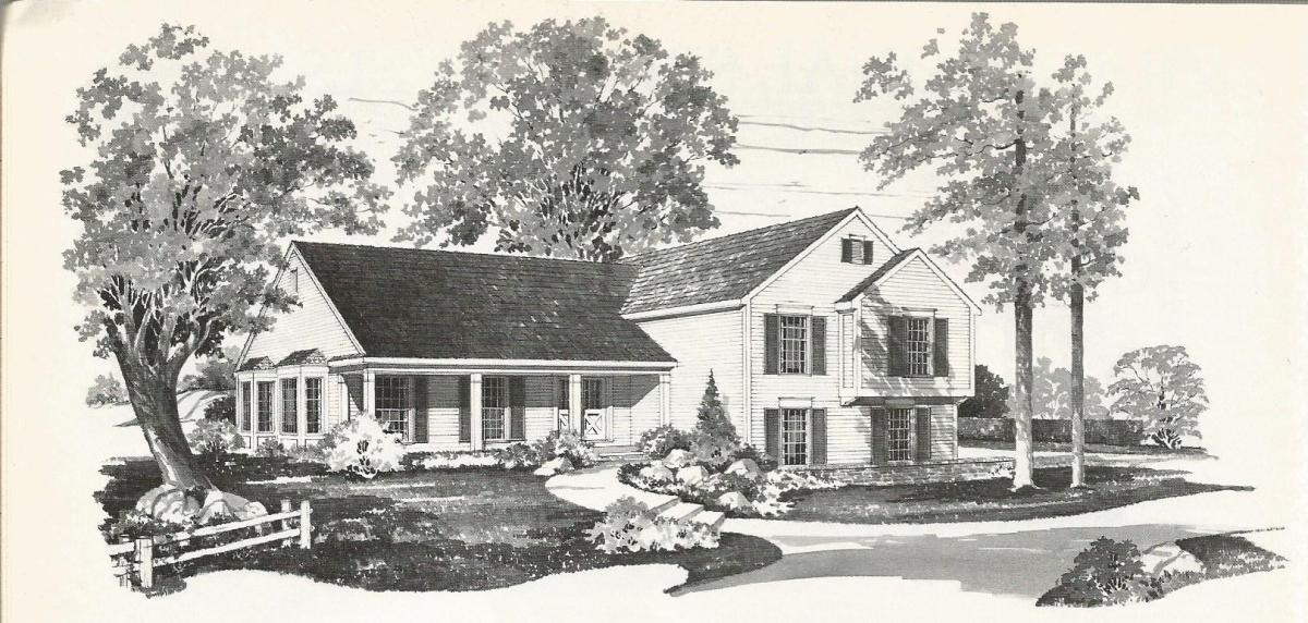 vintage house plans colonial tri level home antique alter ego - Vintage Farmhouse Plans
