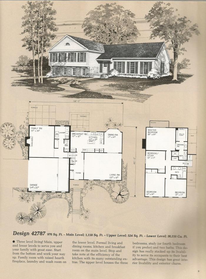 Tri level livability for Quad level house plans