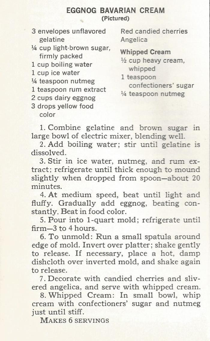 Vintage Eggnog Recipes