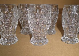 Heisey Provincial Footed Wine Glasses, Antique Alter Ego