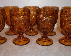 Amber Moon and Stars 10 oz Goblets, Antique Alter Ego