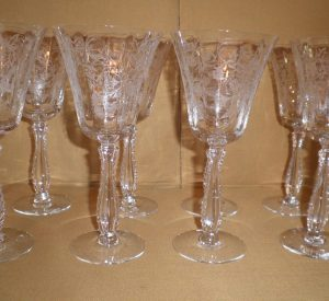 Fostoria Heather Wine Goblets, Antique Alter Ego